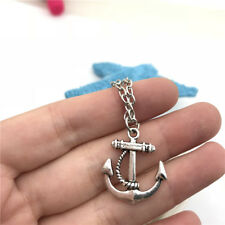 Anchor Charm Necklace Charms Jewelry Tibet silver Pendant Chain Necklace