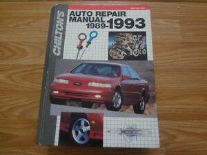 1992 Edition of Chilton's Auto Repair Manual 1989-1993 Part No 7909