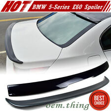 Painted BMW E60 4D Sedan A Type Rear Roof Wing + Trunk Spoiler 5-SERIES 550i M5