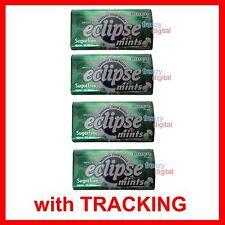 Wrigley's ECLIPSE Mints SPEARMINT Sugarfree 34g/1.2oz x 4 Tins USA Free S/H