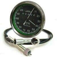 "Replica 0-120Mph Black Face Smiths Speedo+54"" Long Cable For BSA NORTON RE"