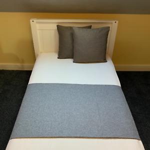 Handmade Herringbone Tweed Bed Runner Throw Home Decor Sofa Cover Blanket