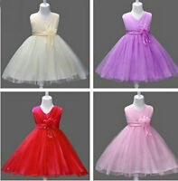 Flower Girls Princess Tutu Layers Dress Pageant Wedding Bridesmaid for Kids
