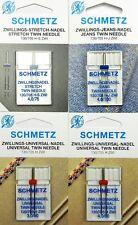 4 x Schmetz Zwillingsnadel Sortiment Stretch Jeans Universal System 130/705