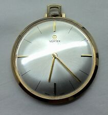 Superb Quality Hallmarked Early Vintage Slim Solid 9Ct Gold Vertex Pocket Watch