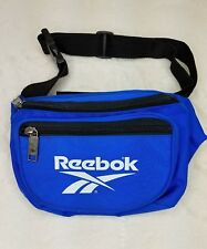 Reebok spell out Waist Pack Fanny Pack Sports Blue Vintage