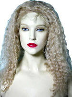 HUMAN HAIR Wavy Glueless Silk Top Blonde Mix Remi Remy Indian Full Lace Wig