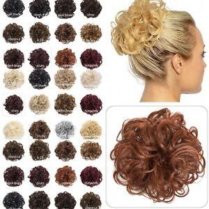 Koko Large Curly Hair Scrunchie Hairpiece Wrap Messy Bun 28 Natural shades P4
