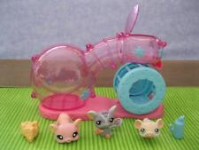 Littlest Pet Shop Habitrail Tube Hamster Gerbil Run Playset Cheese Mice Drink++