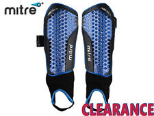 *CLEARANCE NEW* MITRE AIRCELL POWER ANKLE SHINGUARD'S - MEDIUM - BLACK/CYAN