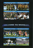 Chad 2019 MNH Wembley Ronaldo Harry Kane 8v IMPF M/S Football Sports Stamps