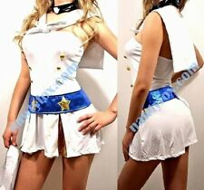 Sexy Sailor White Gold Star Cap Mini Dress Womens Halloween Costume New M