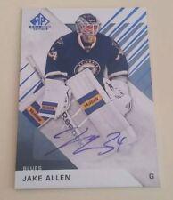 JAKE ALLEN - 2016-17 SP Game Used Edition Autograph #41 Auto - Blues Autograph