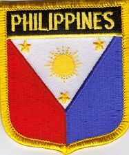"PHILIPPINES  SHIELD FLAG EMBROIDERED PATCH -- IRON-ON -- NEW 2.5"" x 2.75"""