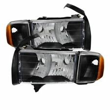 Xtune 9032158 OEM Headlights (Black) Fits 1999-2002 Dodge Ram Sport Models