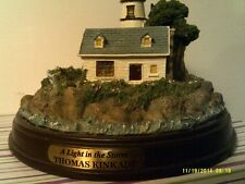 Thomas Kinkade Seaside Memories Lighted Lighthouse-Storm-1999-Fre e Shipping