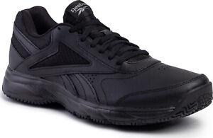 Reebok Men Shoes Walking Black Slip Oil Resistant Work N Cushion 4.0 FU7355 New