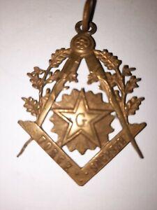 Franc maçonnerie: médaille  ancienne en bronze
