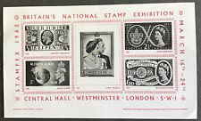 GREAT BRITAIN EXHIBITION SHEET STAMPEX 1962 MNH
