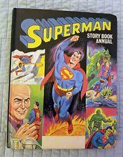 SUPERMAN STORY BOOK ANNUAL, HARDCOVER, HC, WORLD DISTRIBUTORS, 1968