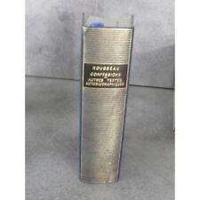 Collection Bibliothèque de la pléiade NRF Rousseau confessions autres textes aut