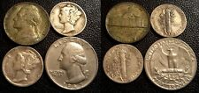US LOT 8 COINS SILVER