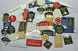 Hunkydory 52 Foiled Christmas Sentiments Card Toppers