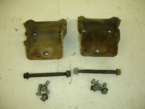 81-87 chevy gmc engine motor mount clam shell cups 6.2 diesel with bolts set #1