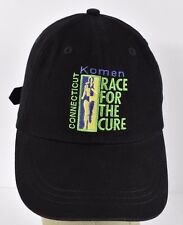 Black Komen Race For The Cure CT Embroidered baseball hat cap adjustable