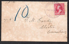 **US 19th Cent Cover, SC# 220, Waterport, ME 2/25/1891 CDS Home Made Wallpaper?