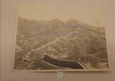 Fotografia d'epoca Anni '30 o '40 scattata in CINA sulla GRANDE MURAGLIA CINESE