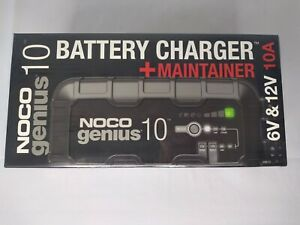 NOCO GENIUS10 Battery Charger and Maintainer 10 Amp Brand New Factory-Sealed