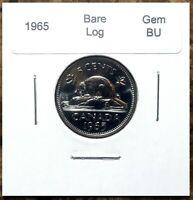 Canada 1965 Five Cents Bare Log Variety Gem BU!!