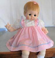 "Madame Alexander Vintage 1965 PUSSYCAT 24"" new crier pretty pink dress"