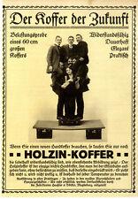 Holzin-Handkoffer Belastungsprobe Haeßler & Völker Magdeburg von 1913