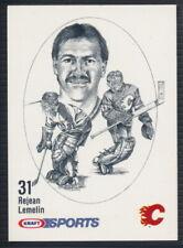1986-87 Kraft Sports Hockey Card Rejean Lemelin