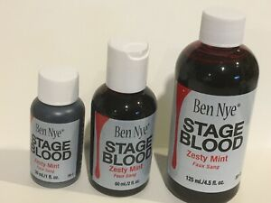 Ben Nye Stage Blood Zesty Mint Flavor SFX XF Theatrical Makeup CHOOSE SIZE