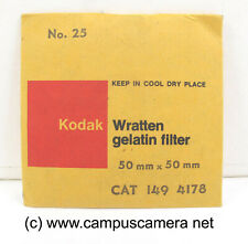 "Kodak 2 x 2"" #25 Red Optical Wratten Filter 50mm x 50mm for B&W film 1494178"