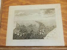 1781 Antique Print//DEFEAT OF THE SPANISH ARMADA