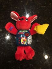 Fisher Price 1998 red puppy dog buddies holding bone interactive talking plush