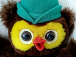 """Dakin Vtg 1976 Plush Woodsy Owl 11"""" Stuffed Toy Give a Hoot Don't Pollute FLAWS"""