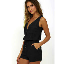 New Fashion Women Sexy Holiday Jumpsuit Playsuits Sleeveless Pants Bodysuit Top