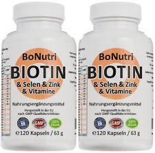 SPARPACK Biotin Selen Zink Vitamine 240 Kapseln 4-Monatsbedarf Haare Haut Nägel