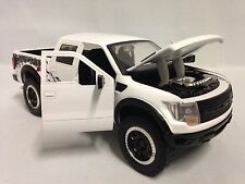 """2011 Ford F-150 SVT Raptor, Collectible, 8"""" Diecast 1:24 Scal, Jada Toys, White"""