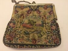 Vintage Petit Point Purse Excellent Condition Antique Evening Bag