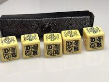 More details for vintage poker dice x 5 advertising david brown tractors bakelite set