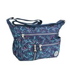 Bolso de nylon multibolsillos para mujer bolso de mensajero informal bolso