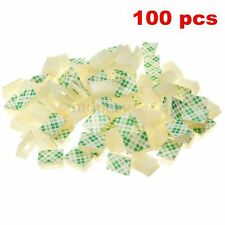 100 Pcs White Plastic Wire Tie Rectangle Cable Mount Clip Clamp Self-adhesive