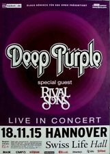 DEEP PURPLE - 2015 - Konzertplakat - Rival Sons - Tourposter - Hannover