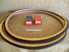 [2]   27 X 1-1/4 GUM-WALL BICYCLE TIRES & [2] TUBES. FOR YOUR ROAD BIKE, TRACK